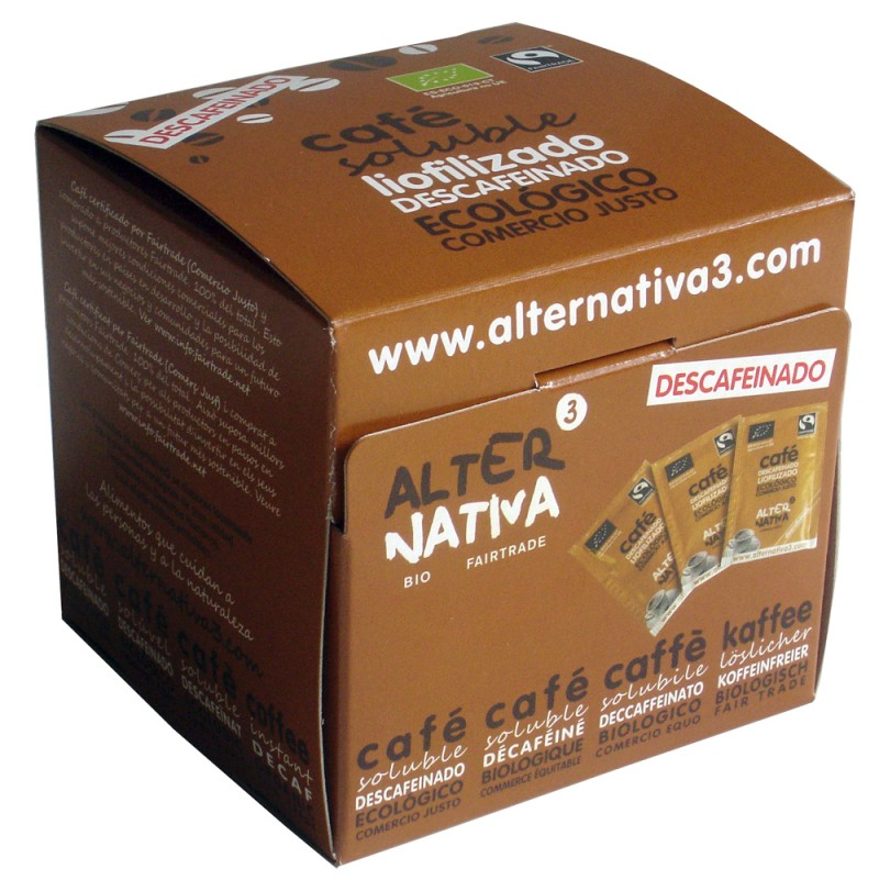 Café descafeinado soluble liofilizado - Alternativa3
