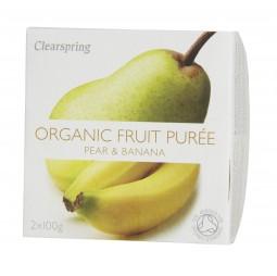 Puré de Pera & Plátano 2x100g - Clearspring