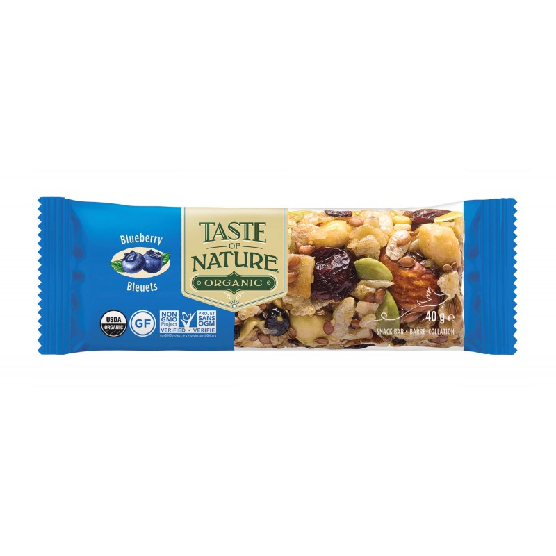 Barrita de frutos secos & arándanos 40g - Taste of Nature