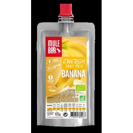 Gel energético de pulpa de fruta, Banana 65g - Mulebar