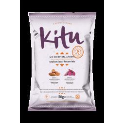 Mix de Batata Andina Naranja & Morada - 50g - Kitu Snack