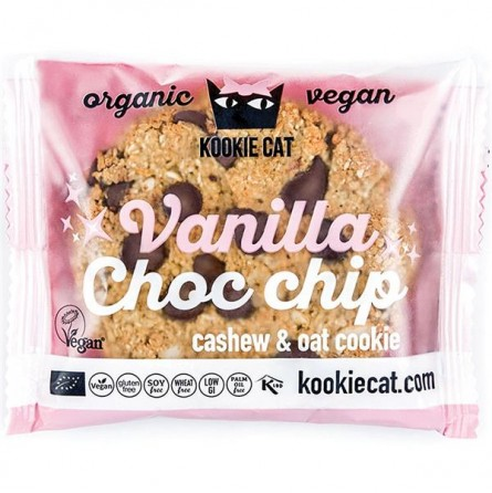 Galleta de Avena con Vainilla & Chips de Chocolate 50gr - Kookie Cat