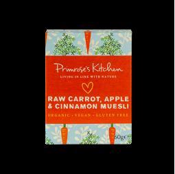 Muesli de Zanahoria cruda, Manzana & Canela 60g - Primrose's Kitchen